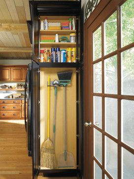 Diamond Shallow Depth Utility Cabinet with Broom Loops - Kitchen ...