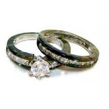 Cool Pink Camo Wedding Rings