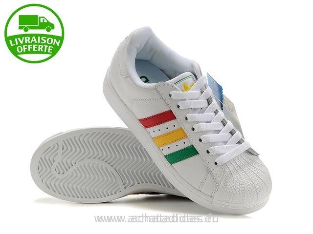 acheter chaussure adidas vert jaune rouge