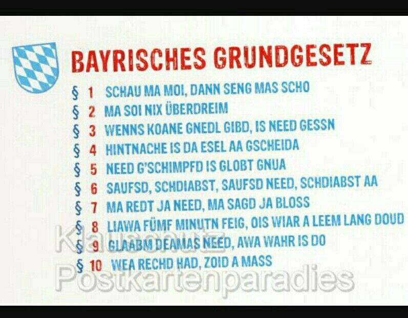 Dialekt Bayrisch