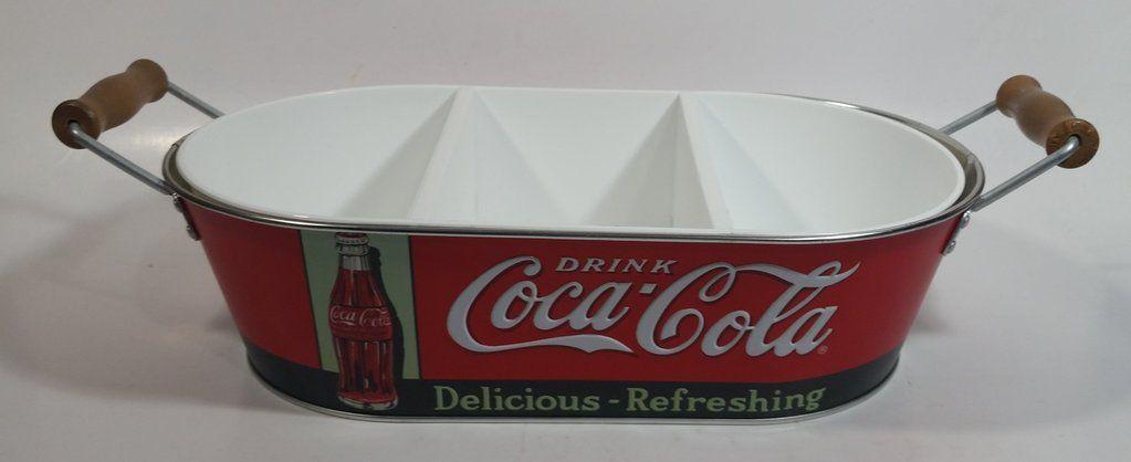 "Tin Sign Coca Cola Delicious and Refreshng 11 3//4/"" diameter"