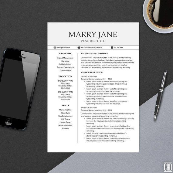 modern professional resume template for ms word