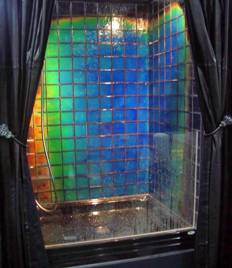 This Shower Tile Changes Color Depending On The Temperature Of The Water Shower Tile Tile Bathroom Tile Color Change