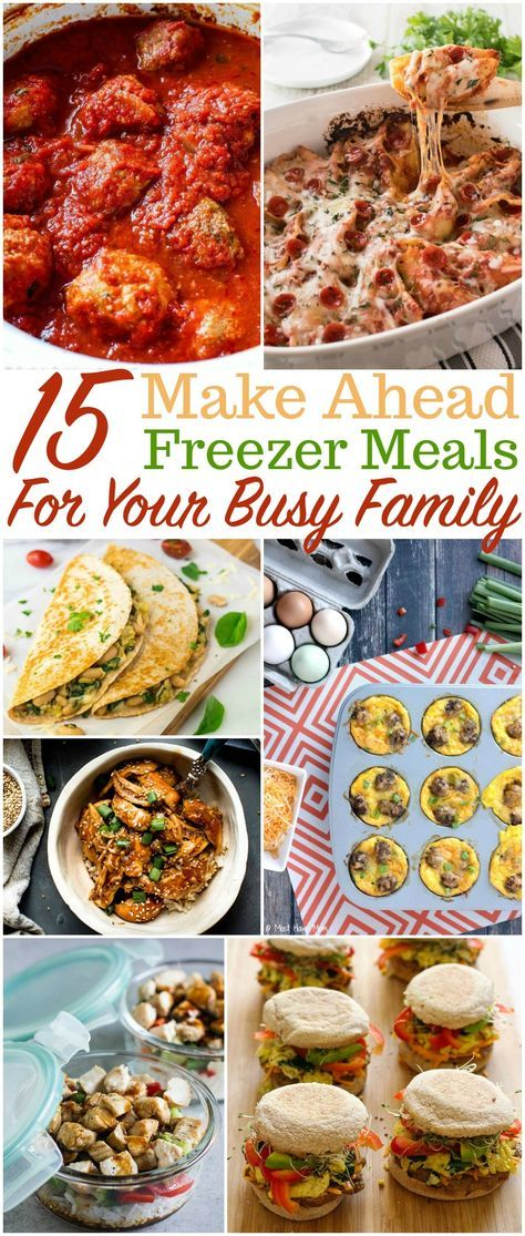 Simple Make Ahead Freezer Meals Your Family Will Love images