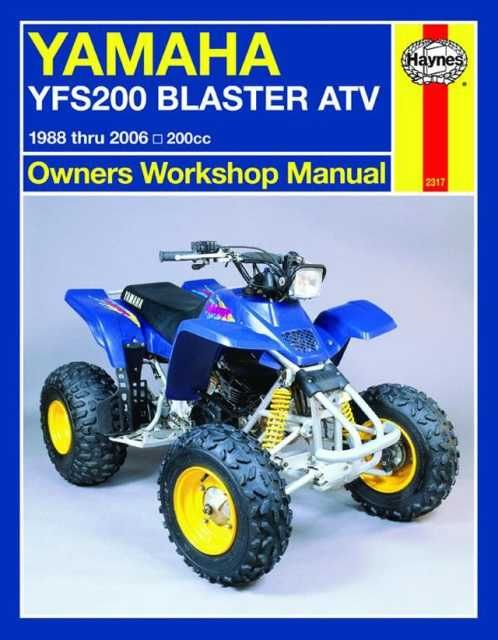 Yamaha yfs200 blaster atv owners workshop manual 1988 thru 2006 yamaha yfs200 blaster atv owners workshop manual 1988 thru 2006 200cc paperback overstock shopping the best deals on motorcycles fandeluxe Choice Image