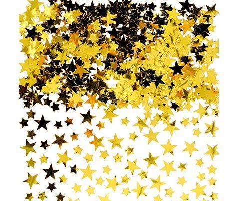 Gold Star Confetti 5oz , Party Confetti , Birthday