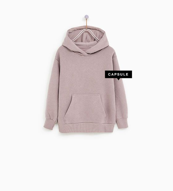 802e961cc OVERSIZED HOODIE WITH POUCH POCKET