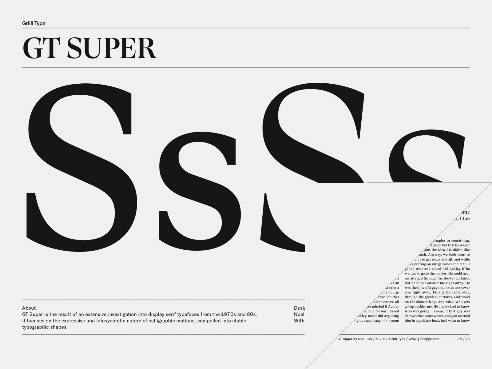 GT Super – Grilli Type – Independent Swiss Type Foundry – Free Trial