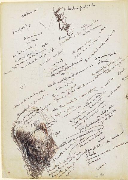 cahier french revolution. la jeune parque paul valry 1912 cahier de brouillon avec dessins french revolution l