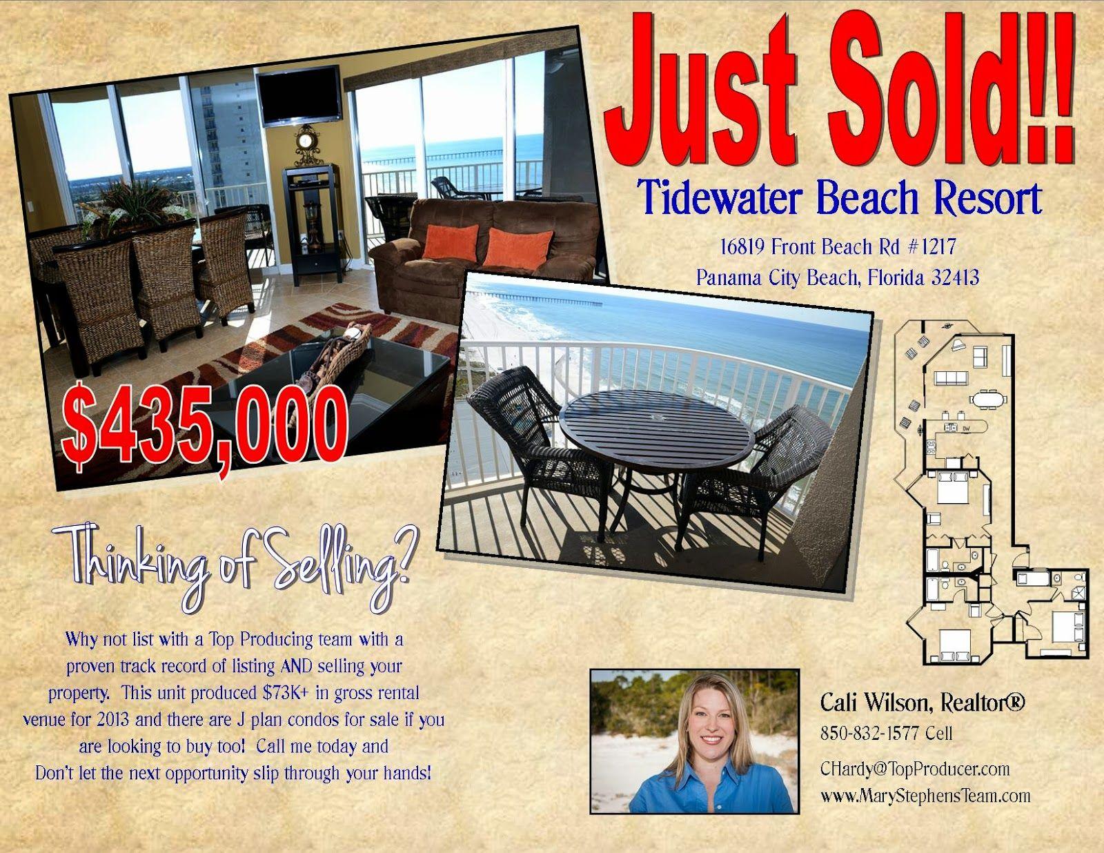 Just Sold Tidewater Beach Resort Panama City Beach Florida Beach Resorts Panama City Panama Panama City Beach
