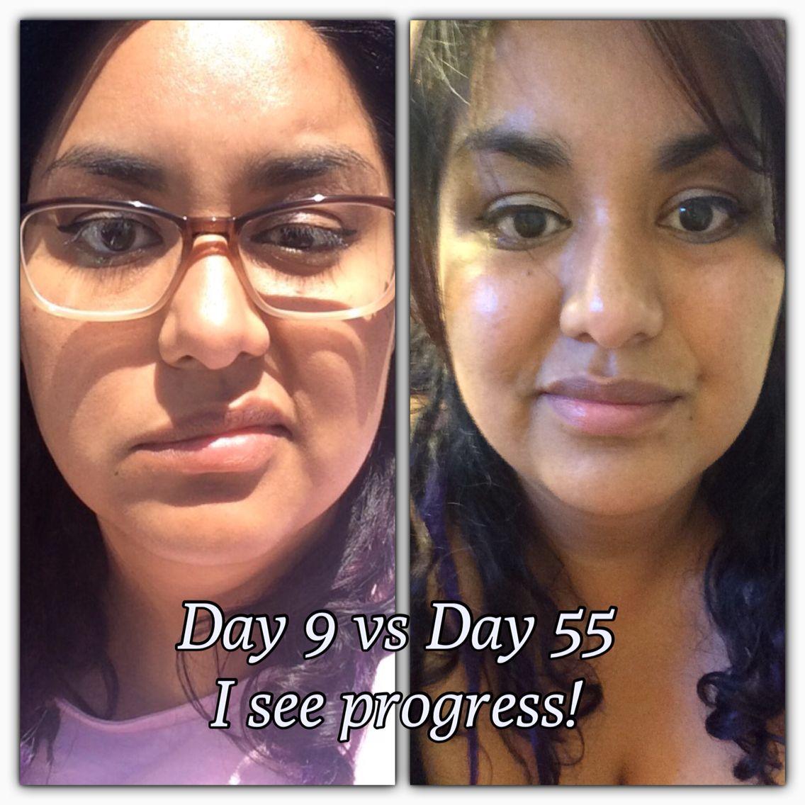 Progress Day 9 vs Day 55