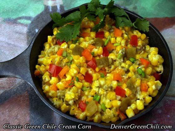 Classic Green Chili Cream Corn