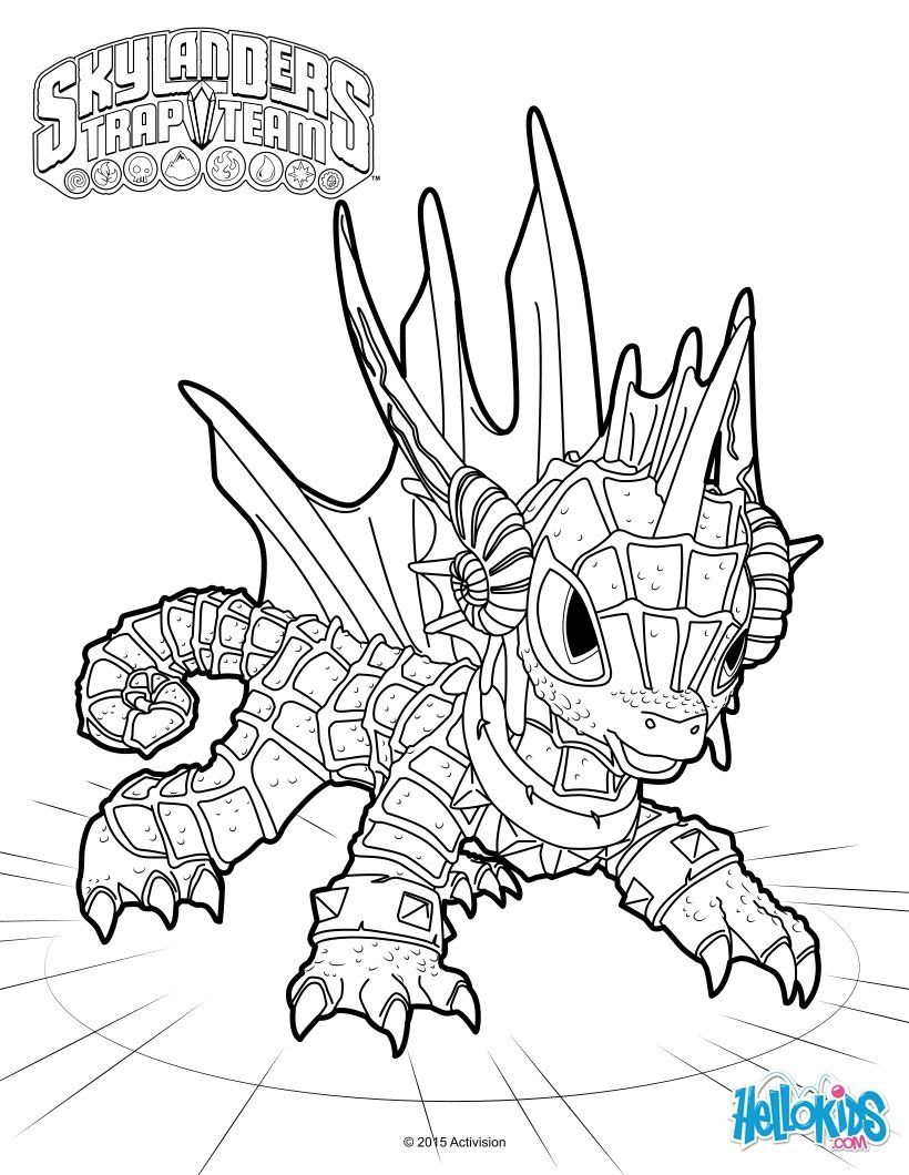 echo coloring page from skylanders trap team coloring