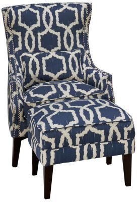 Simon Li Stampede Accent Chair Ottoman With Images Chair And