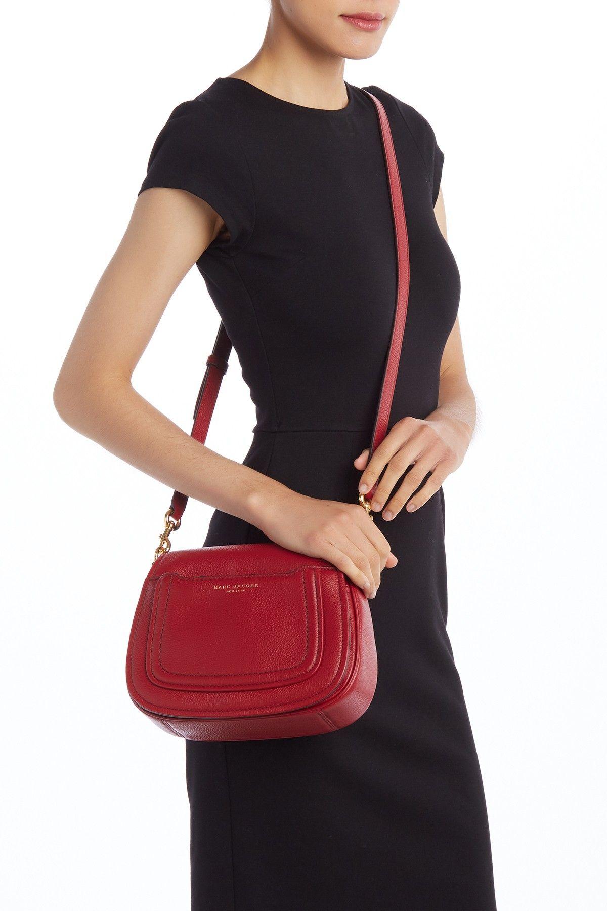 1ca952c9daea Image of Marc Jacobs Empire City Mini Messenger Leather Crossbody Bag