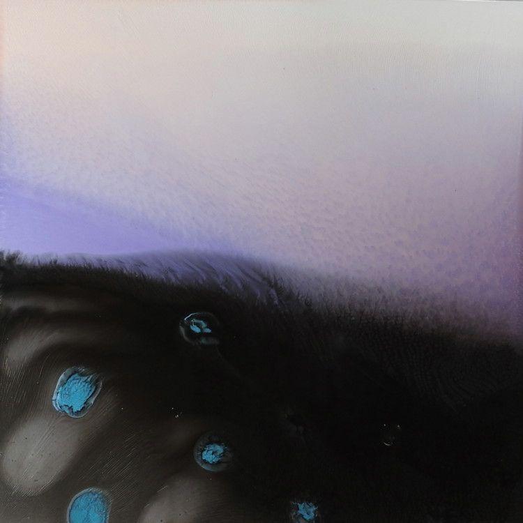galaxies178350x50-technique-mixte-sur-dibond-2016.jpg - Média mixtes,  50x50x0,3 cm ©2016 par Anne Thomann -                                                            Art abstrait, Autre, Art abstrait, BLANC VIOLET SOMBRE