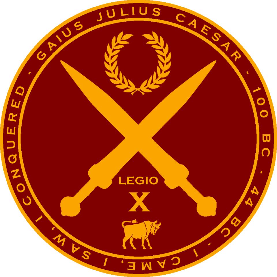 Julius Caesar Round Seal Roman Empire Info Graphics