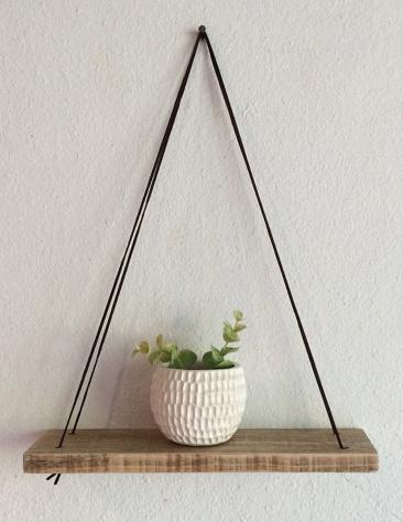 Attractive Swing Shelf   Reclaimed Wood Shelf   Wood And Leather   Urban Shelf    Simpleu2026 Photo