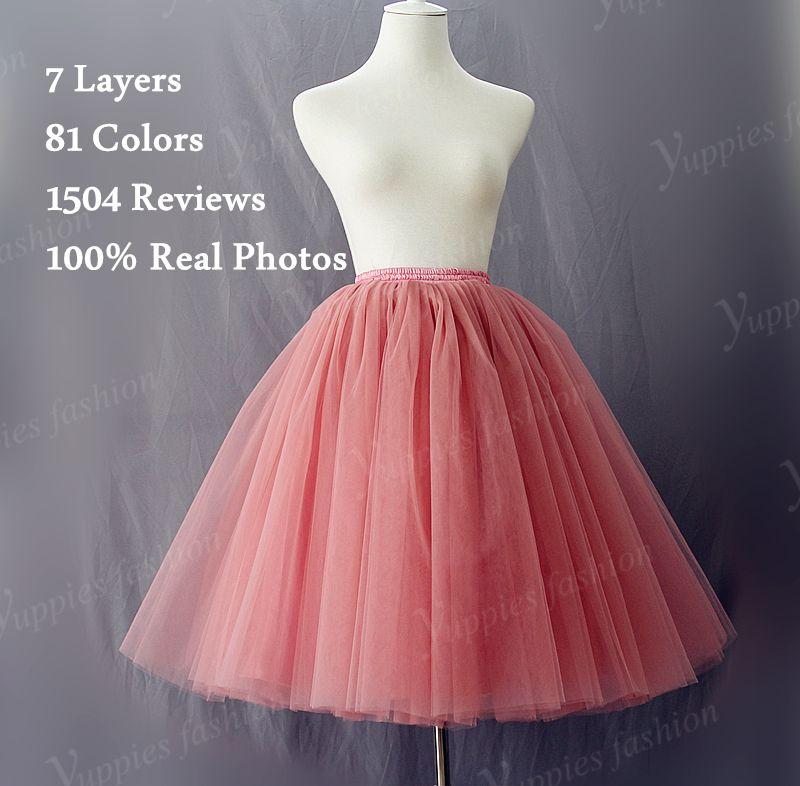 694655faee Aliexpress.com  Comprar 7 capas Maxi largo de tul falda de verano estilo de