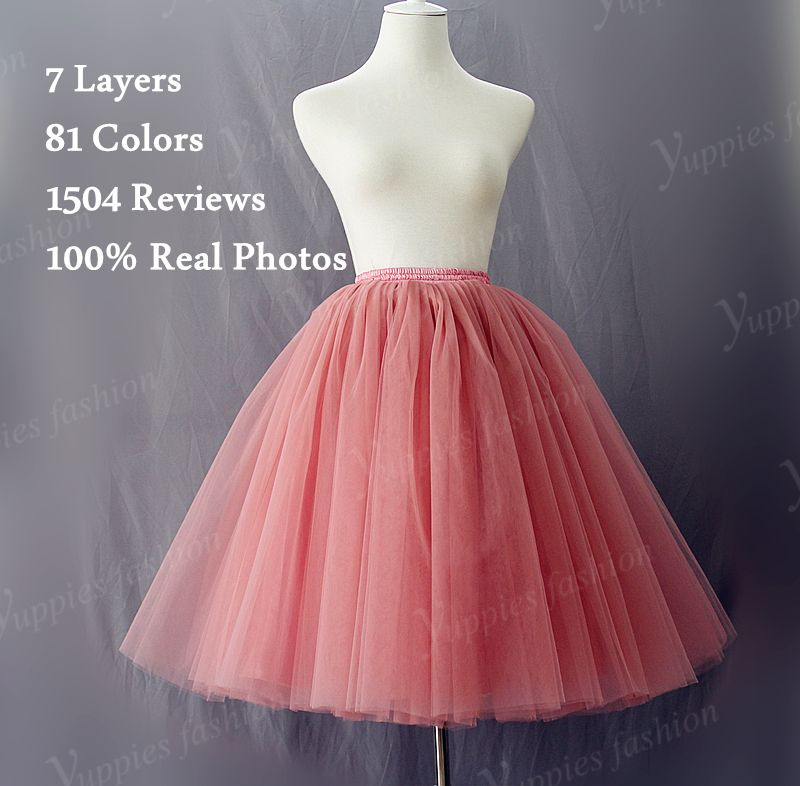 b1230cd78 Aliexpress.com: Comprar 7 capas Maxi largo de tul falda de verano estilo de