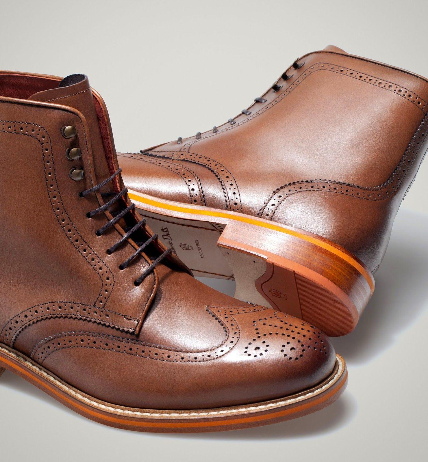 Cultures Hommes: Botte perforée cuir Massimo Dutti