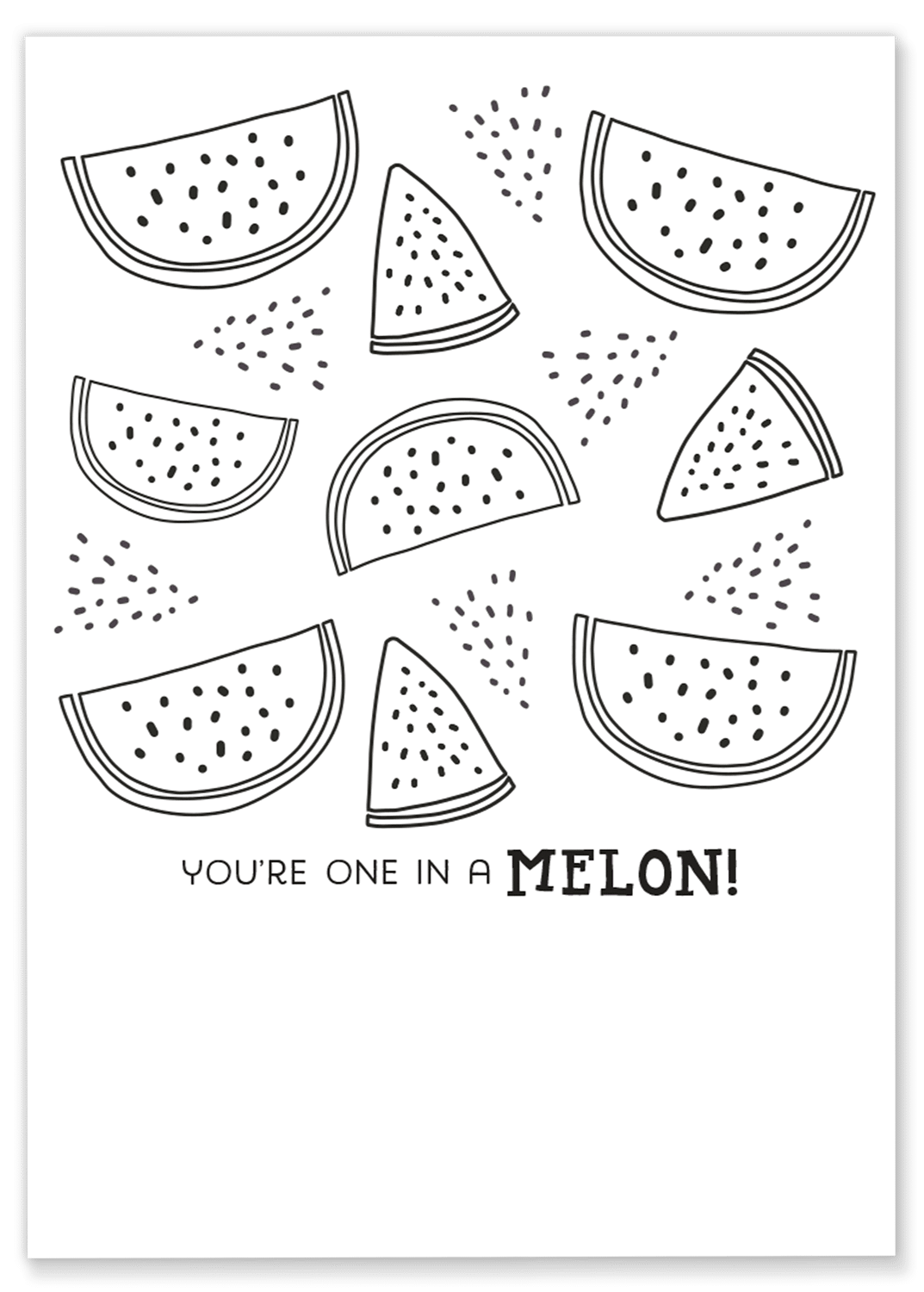 Free watermelon printable to brighten the day of a friend
