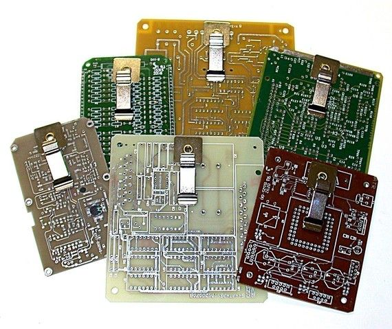 Recycled Circuit Board Mini Clipboards For Shirt Pocket Pkg3