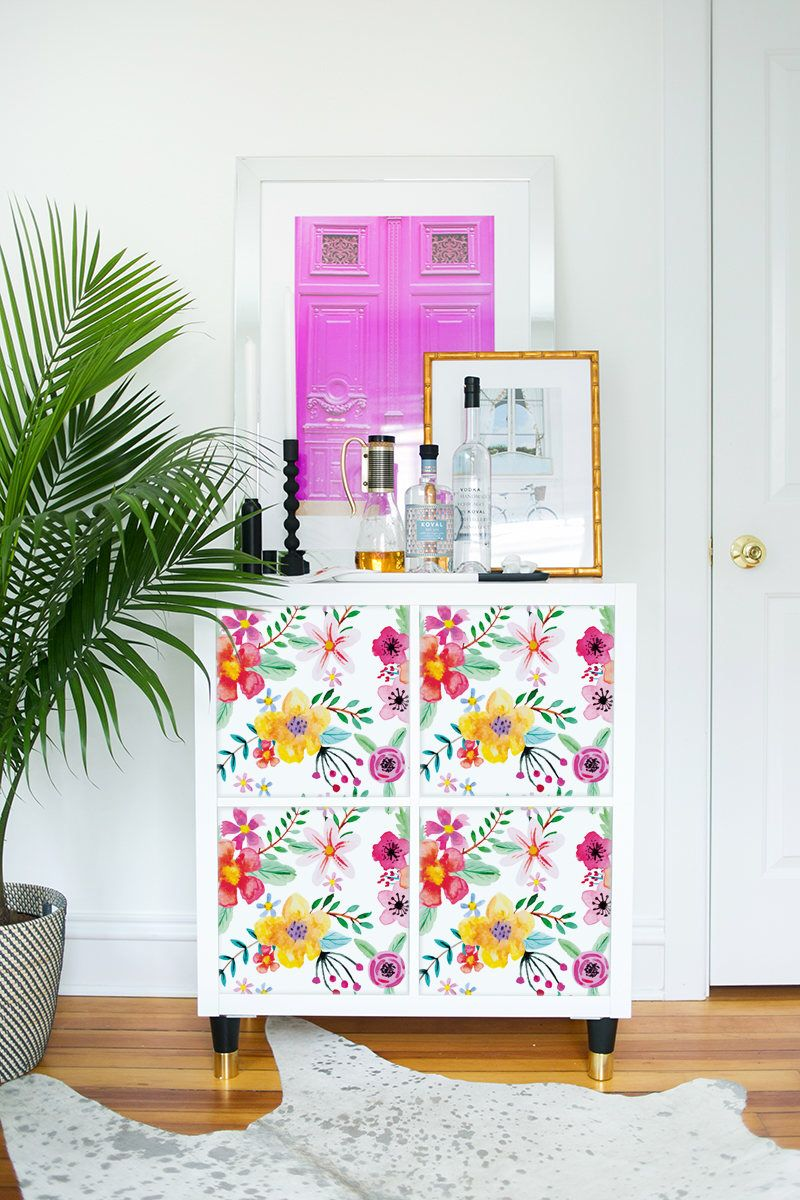 Salle De Bain Cle En Main Moselle ~ Decals For Kallax Expedit Ikea Abstract Colorful Flowers Nature