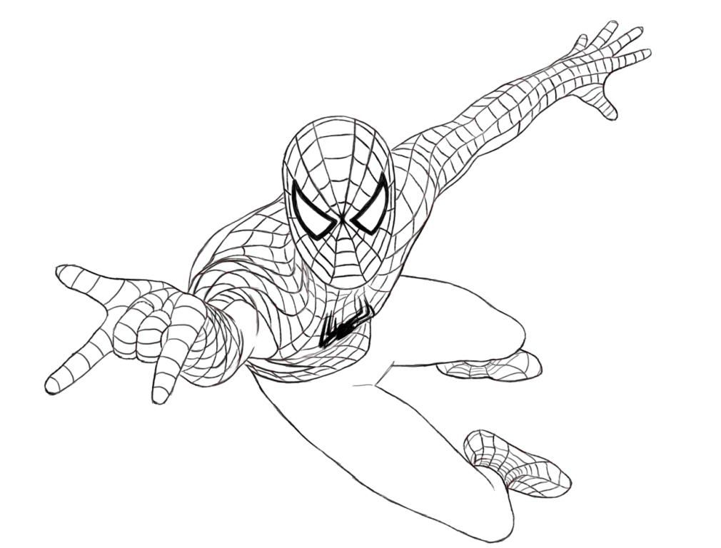 ultimate spiderman coloring pages 08 - Spider Man Coloring Page