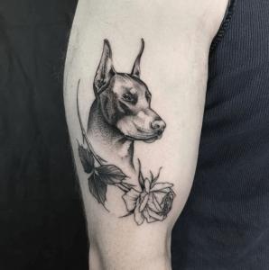Dobermann Tattoo Tattoogrid Net Forearm Band Tattoos Doberman Tattoo Tattoos