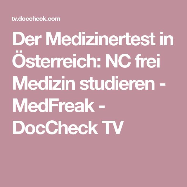 Der Medizinertest In österreich Nc Frei Medizin Studieren