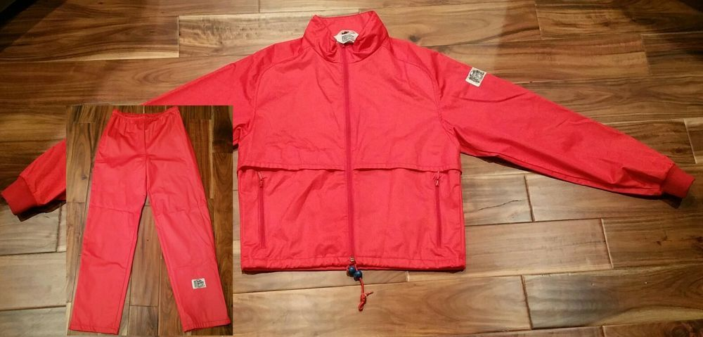 bd8af210ac Moss Brown Gore-Tex Red Jogging Suit Jacket Pants Men Small Outdoor Running  Gear  MossBrown  TracksuitsSweats