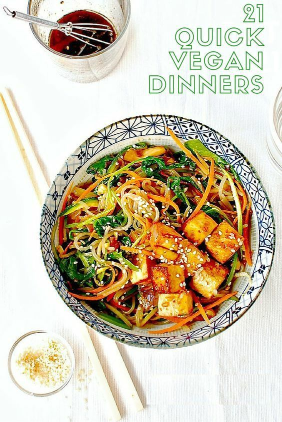 21 Quick Vegan Meals for Midweek Dinners images