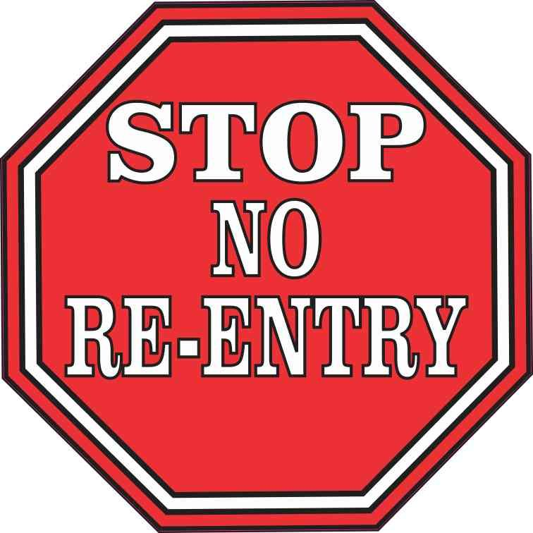 5in X 5in Stop No Re Entry Sticker Stickertalk Signs And