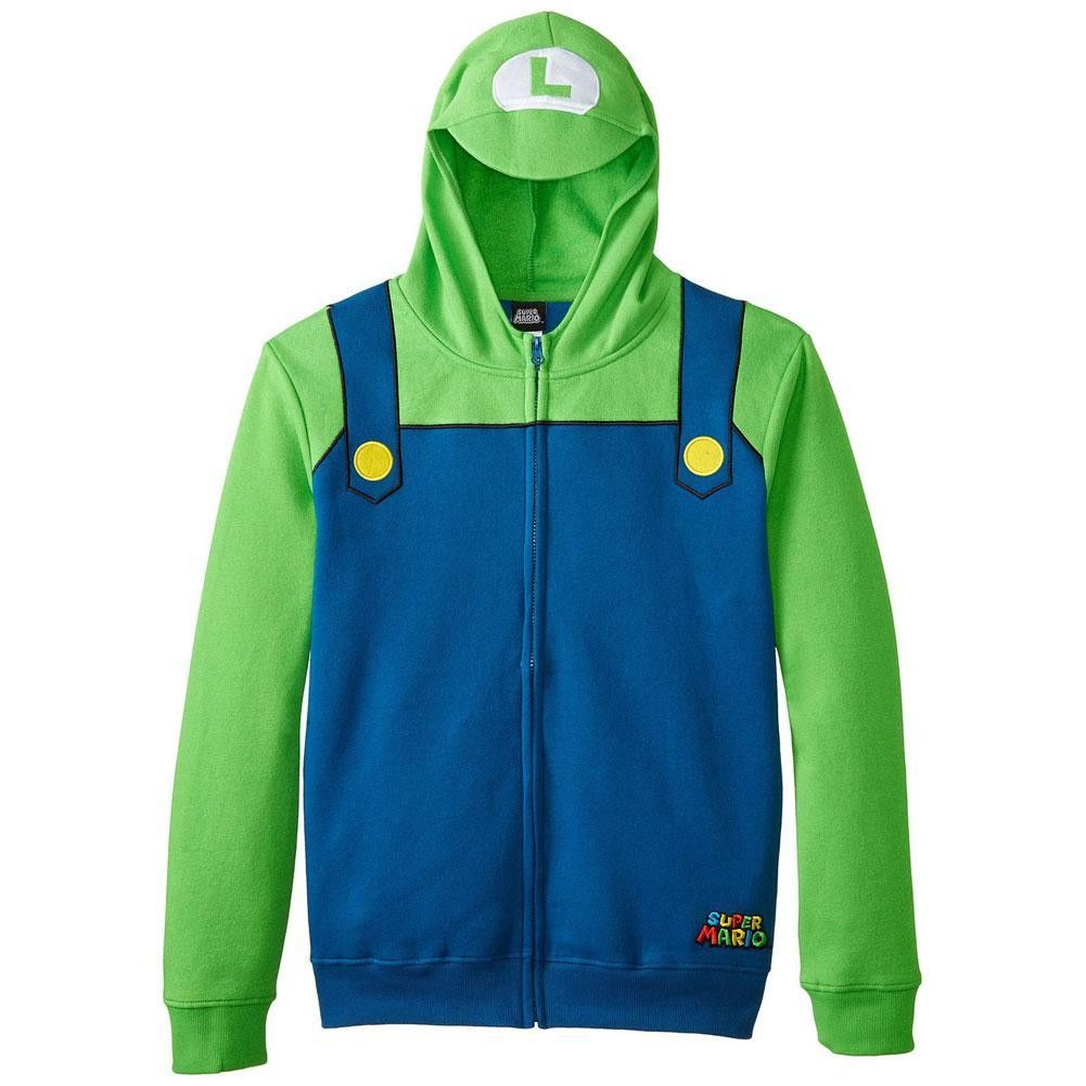 Nintendo luigi youth costume zip hoodie luigi nintendo and youth