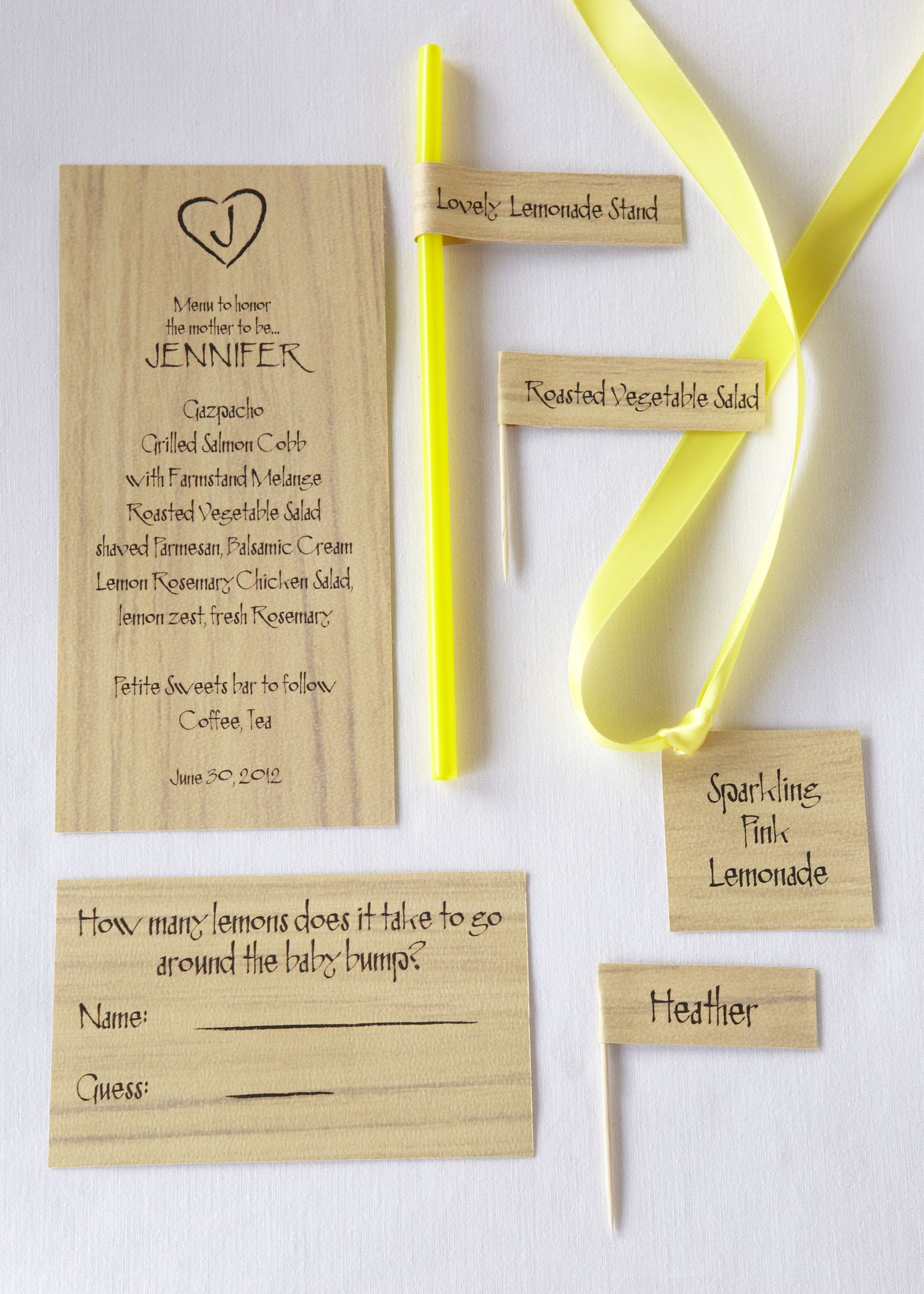 lemonade stand | party like a rock star | pinterest | place cards