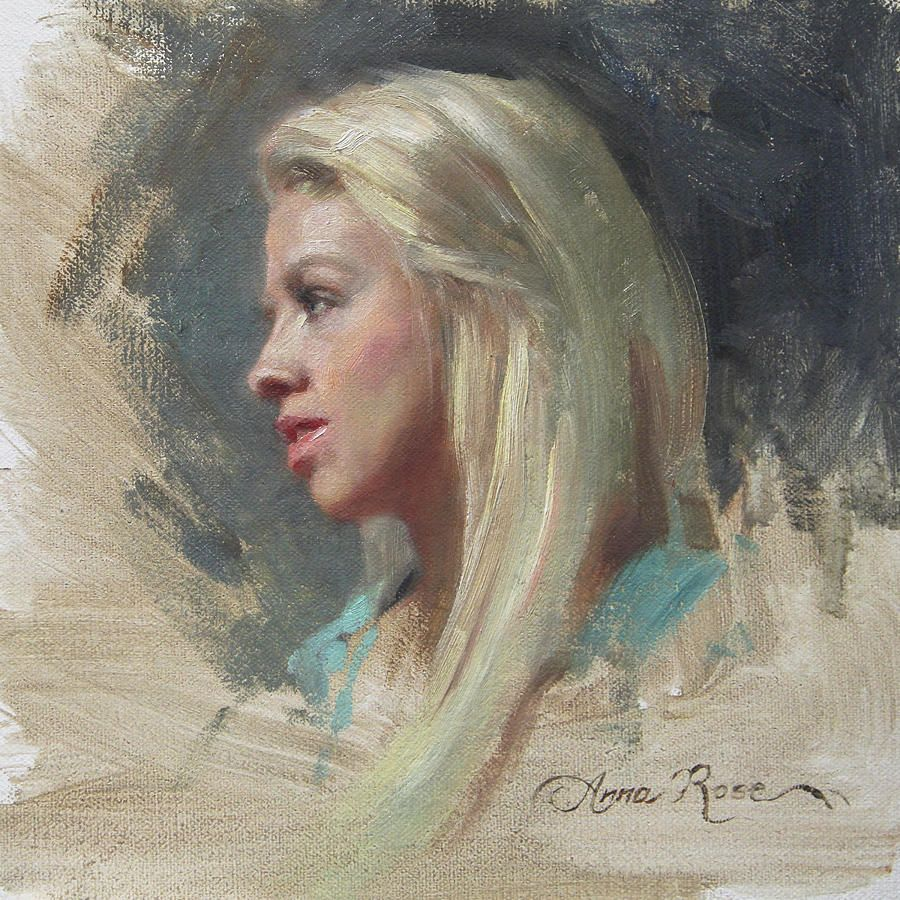 Self Portrait In Profile | Featured, Blonde hair and By