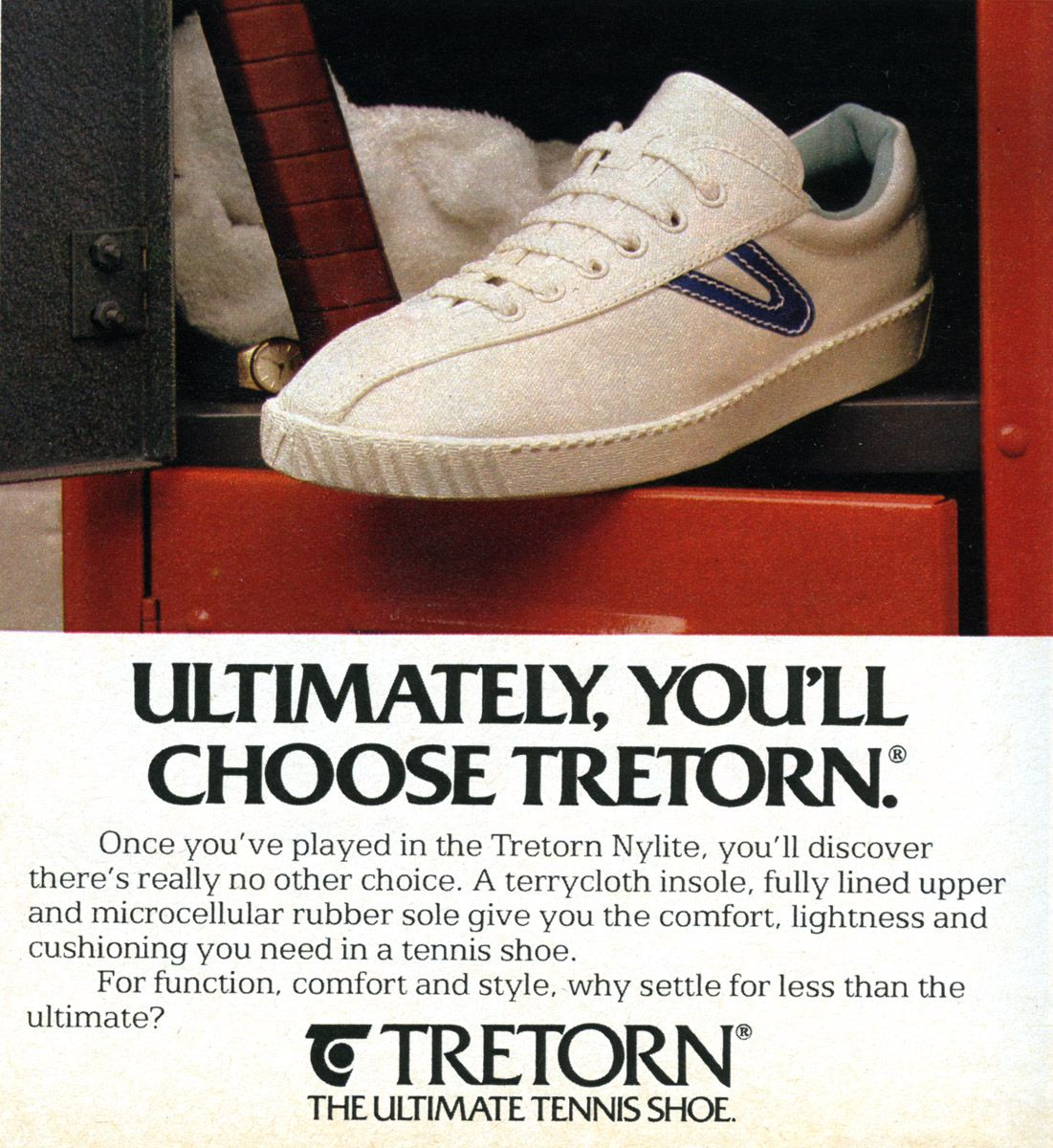 70s 80s tretorn tennis shoes ad est 1891 sweden