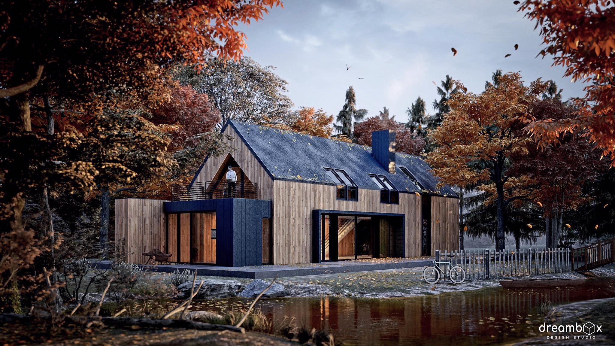 Exterior: #Autumn, #rendered In #Lumion9 By Pathompong Lohavijarn