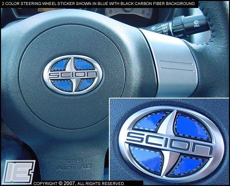 Rear Emblem Insert Sticker Scion Tc Car Detailing Scion
