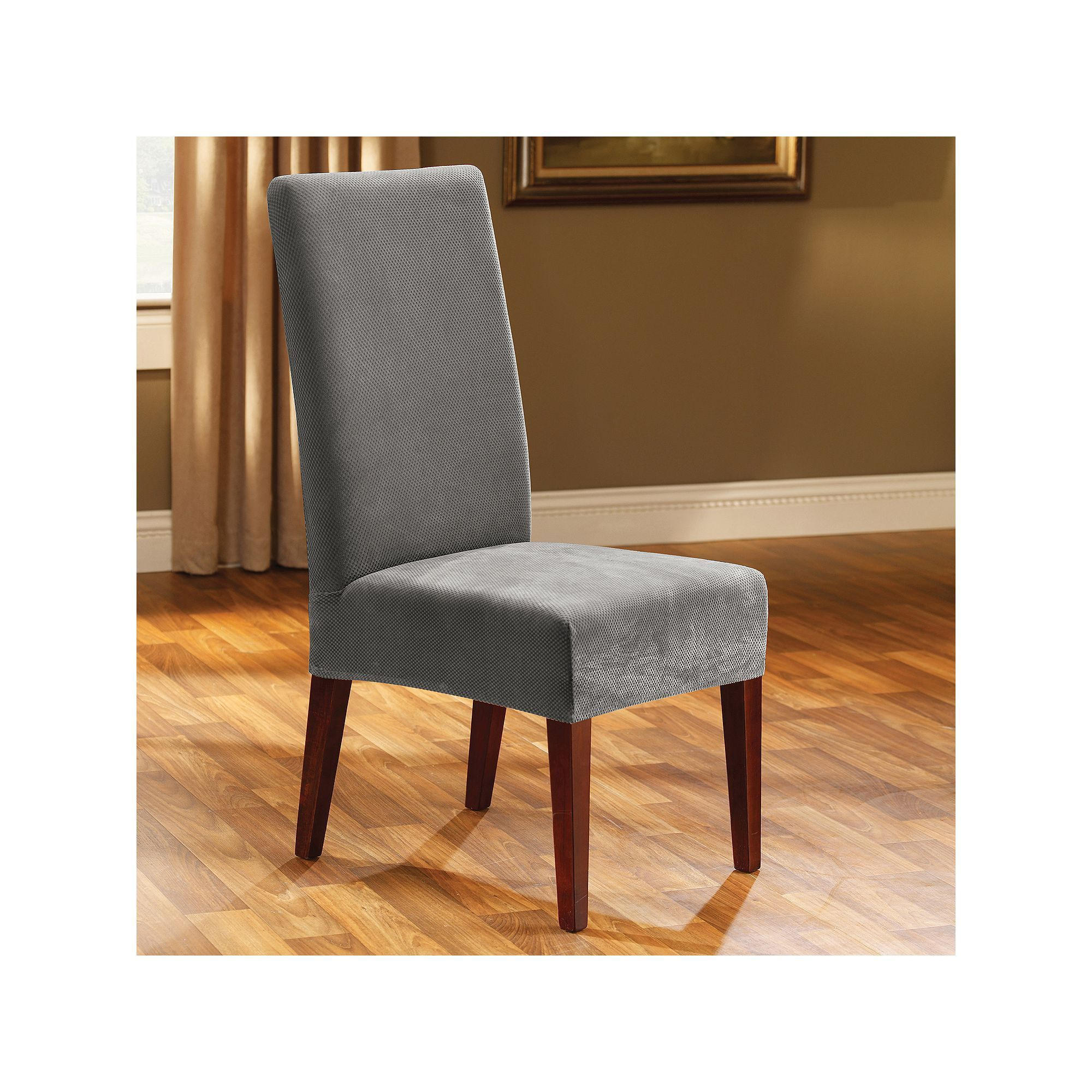 Sure fit pique dining chair slipcover grey durable