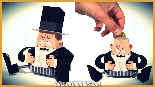 Schöne Dasjenige französische Papierspielzeug Fat Banker Piggy Bankhaus – By Tougui – == – We…