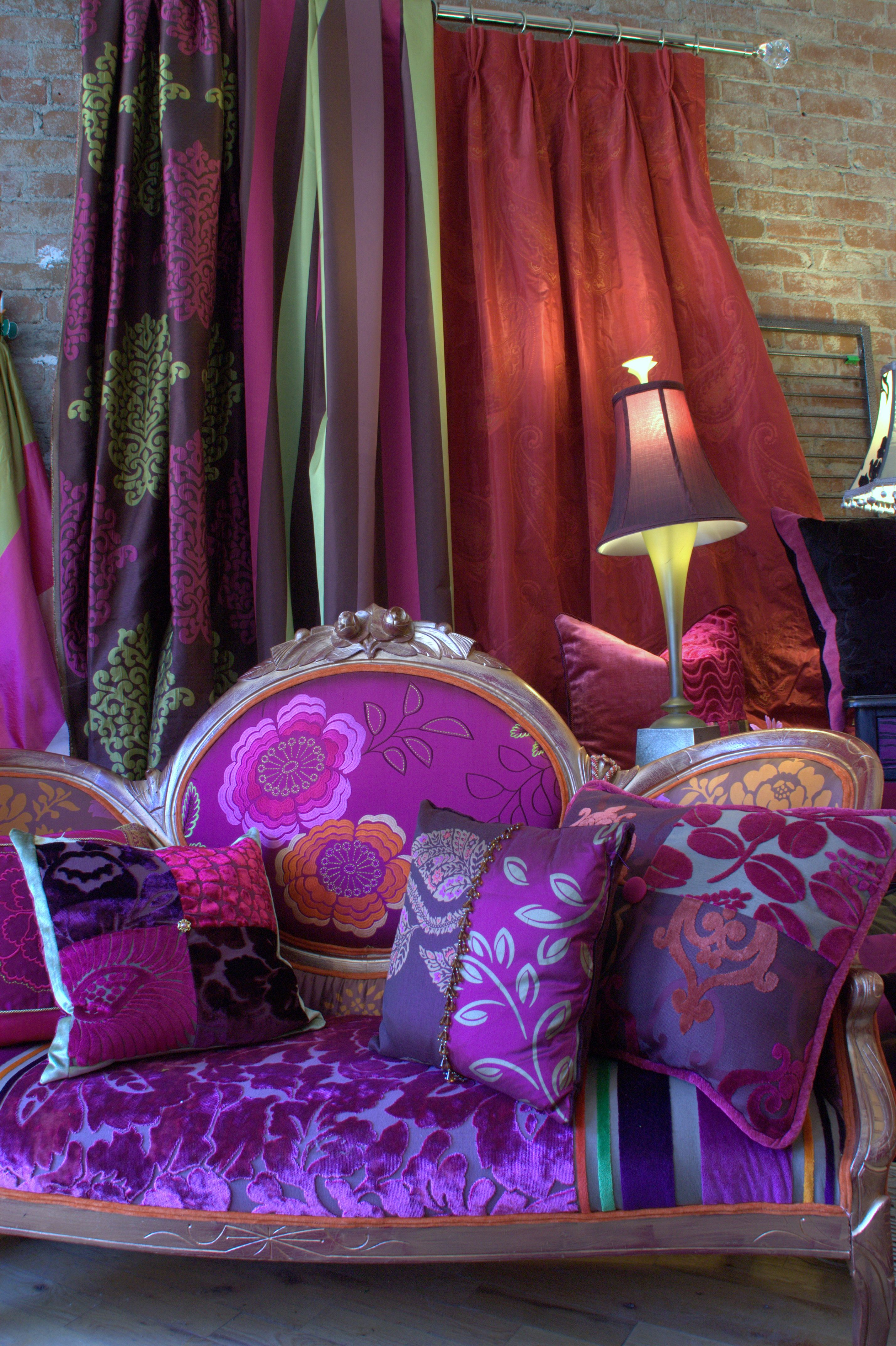 Custom Bedding, decorative pillows and furniture made from ...