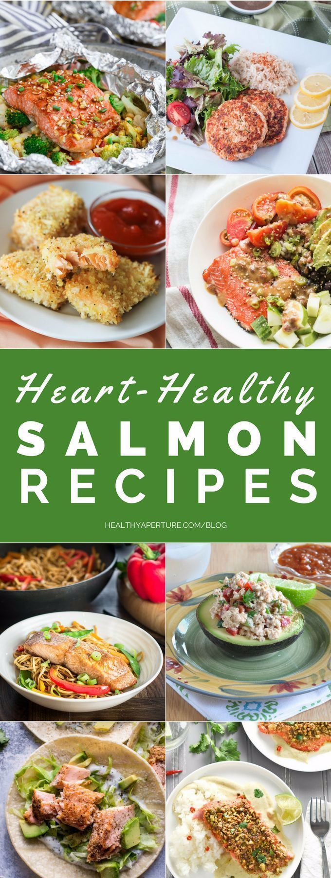 These Heart-Healthy Salmon Recipes are perfect for a quick and easy lunch or dinner on a busy day! #...