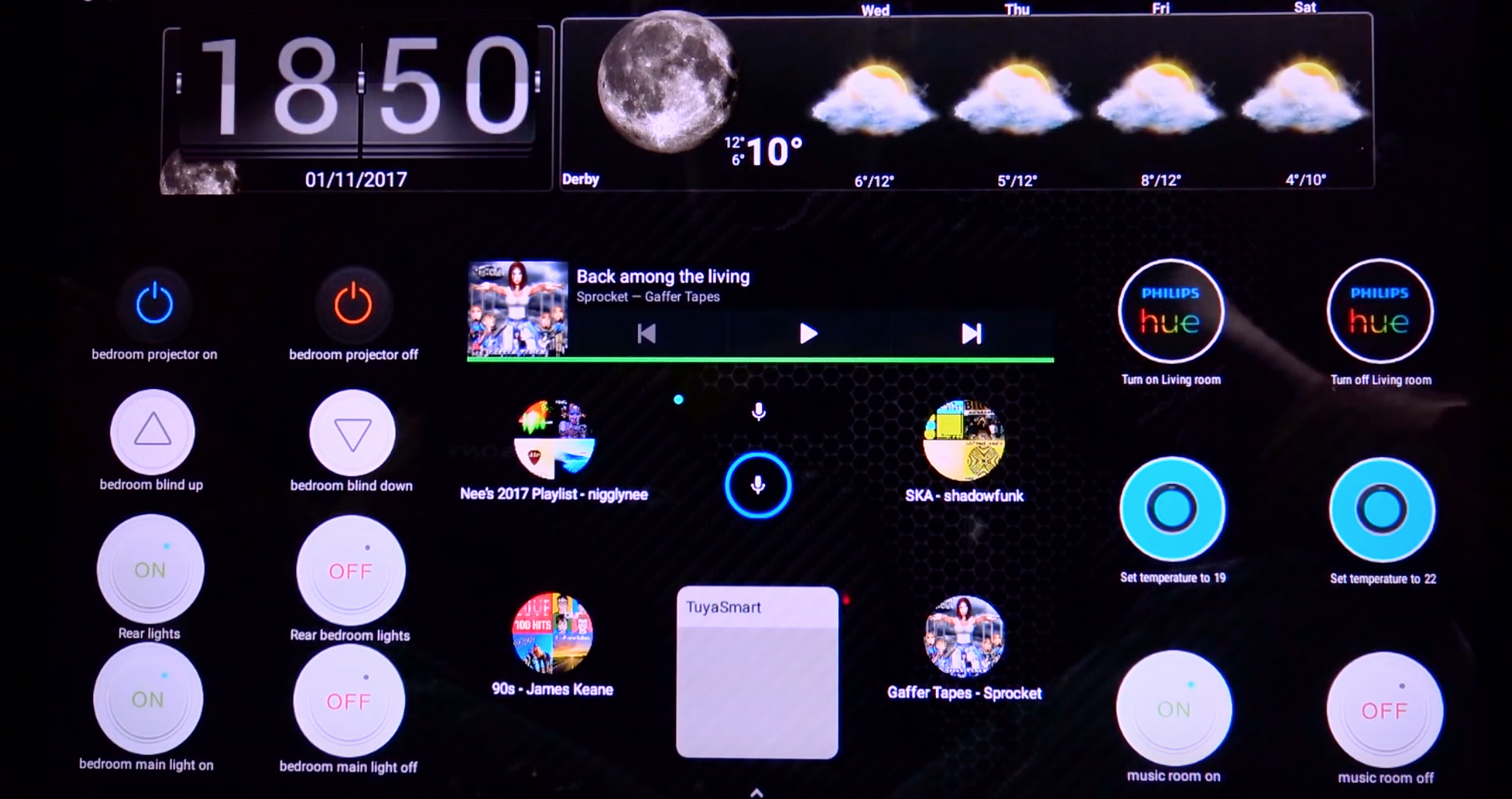 Smart Home dashboard using android widgets | Smart Home | Diy home