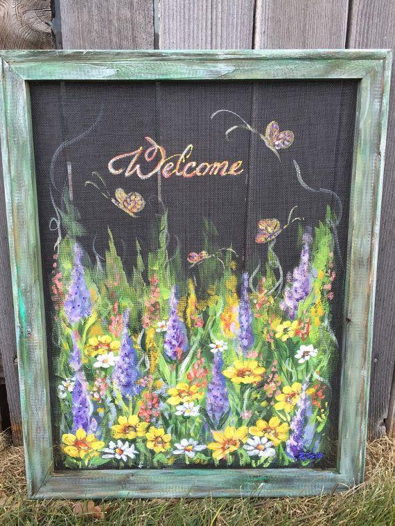 Painted Screen Door Ideas