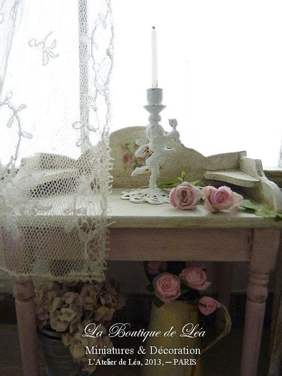 Angel candlestick romantique shabby white 1 39 39 by for Decoration shabby romantique