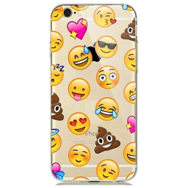 Cute Funny Emoji Case For Coque Iphone 5 5s 6 6s 6 S Plus Clear Silicone Cellphone Cases Cover Silicone Phone Case Iphone Transparent Case Iphone 6s Case Clear
