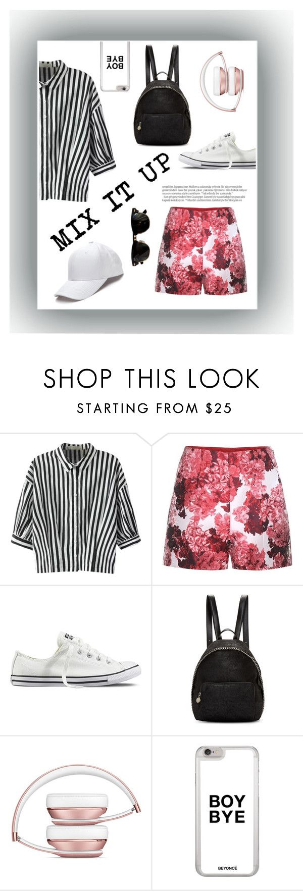 """""""MIX IT UP"""" by kadylady1 ❤ liked on Polyvore featuring Relaxfeel, Moncler Gamme Rouge, Converse, STELLA McCARTNEY, Balmain and Ray-Ban"""