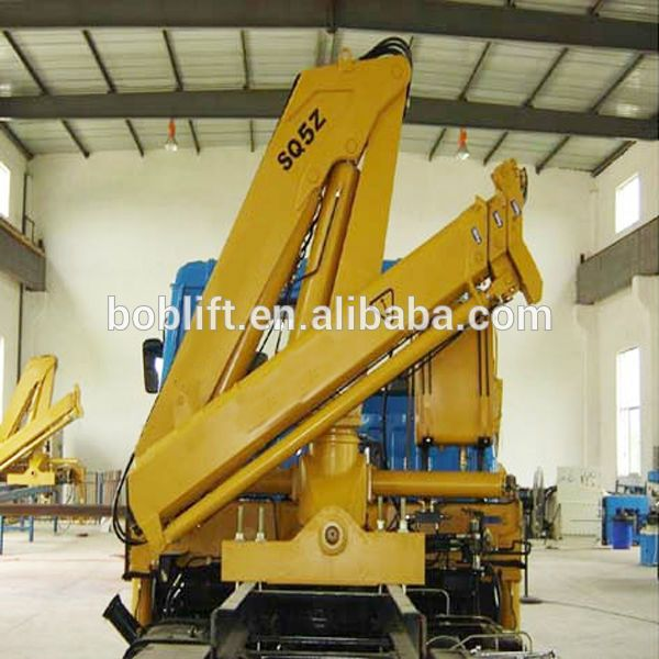 Knuckle Boom Cranes Manufacturers : Ton china hydraulic mobile small mini used new knuckle